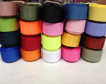 "5/8"" x 40 yard Grosgrain Variety  Assortment 2 yards of each 20 colors."