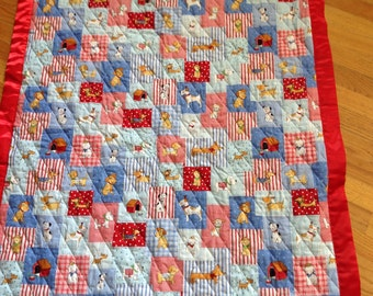 Puppy Dogs reversible quilt
