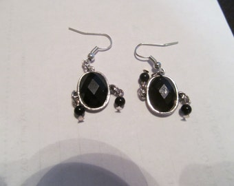 hand made dangles black