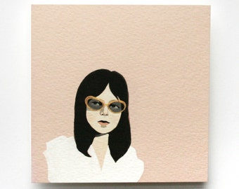 girl in sunglasses (print)