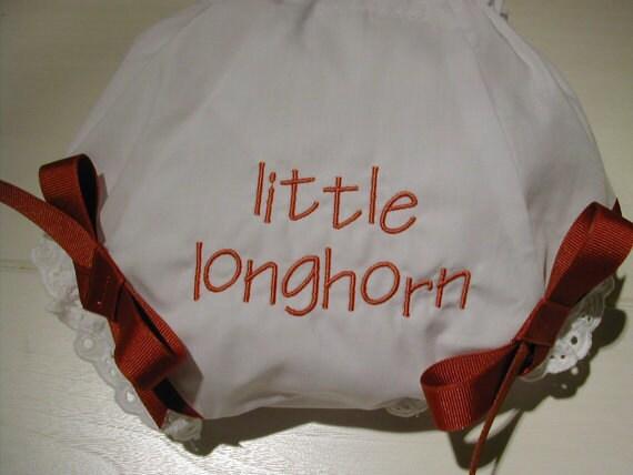 Texas Longhorns custom baby bloomers diaper covers