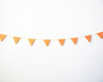 Triangle Garland Bunting Orange 5 ft
