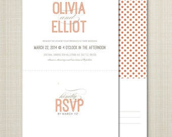 Perforated rsvp | Etsy
