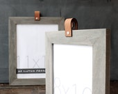 8x10 leather collection picture frame (driftwood gray) . 8x10 handmade picture frame