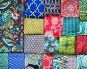 40X56 Amy Butler Hapi Random Patchwork Quilt