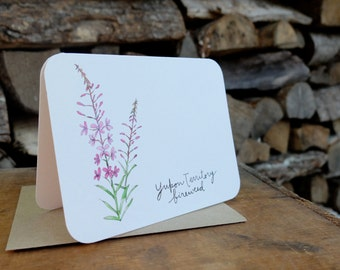 Yukon territory - fireweed - Flowers of the provinces and territories card with envelope