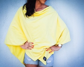 Yellow Nursing Cover for New Moms // Nursing poncho-Full Coverage // Mother's Day Gift