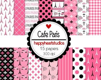 Digital Scrapbooking CafeParis-INSTANT DOWNLOAD
