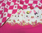 Alice in Wonderland Style Fabric Rabbit and Trump Cards half meter nc13