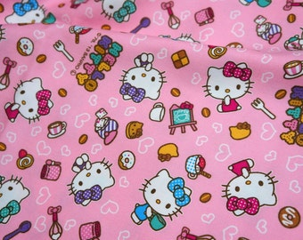 Hello Kitty Fabric Hello kitty and sweets