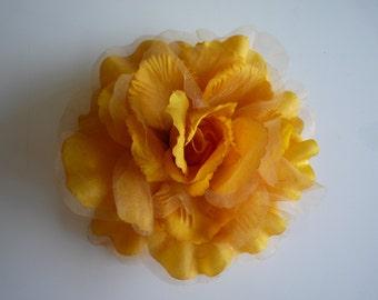 SILK ROSA , Rose Flower, Gold Yellow  /  SR - 06