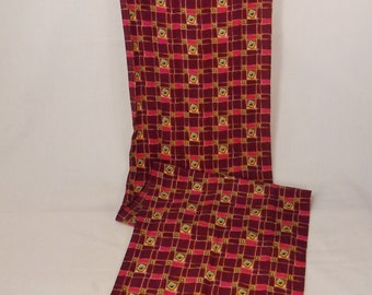 Vintage SILK SCARF Shadws of purple geometric shapes 62 x 13 great condition