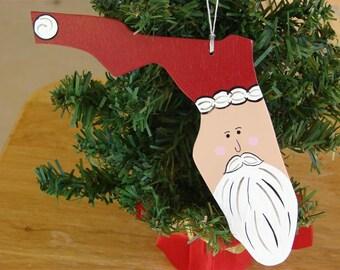 Florida Santa Ornament
