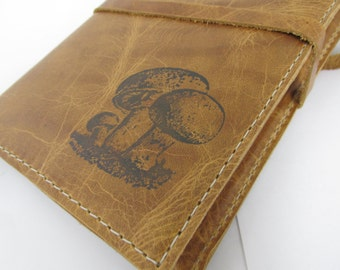 Leather Journal - Leather Sketchbook Cover  - Custom Leather Journal - Monogram - Personalize