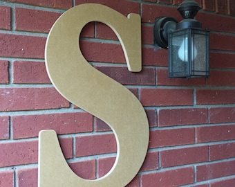24 inch large wooden letter for indoor or outdoor use wedding guest book