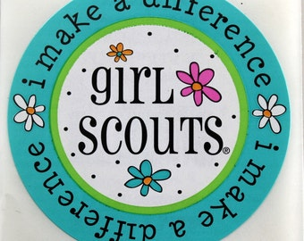 GIRL SCOUTS Stickers - Scrapbook Embellishment - Girl Scouts I Make a Difference Sticker