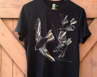 Fly Away Organic Cotton Tee - Vintage Black