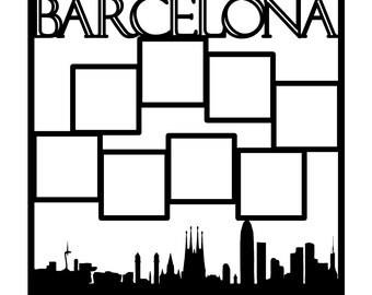 Barcelona Spain Scrapbooking Die Cut Overlay