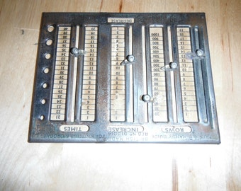 Vintage MMP gauge and row counter