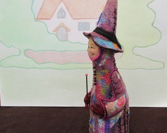 OOAK Cloth Halloween Witch Doll