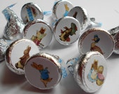 216 Peter Rabbit & Friends Chocolate Kiss Candy Stickers PRINTED FOR YOU
