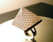 NEW  Flower of Life Orgone Pyramid Ring or Necklace