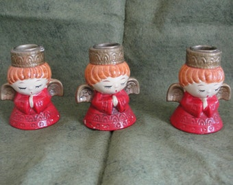 Vintage angel candle holders/made in Japan