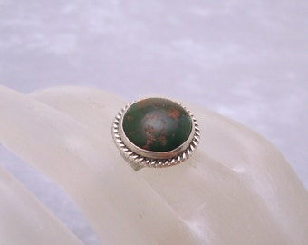 Sterling Turquoise Ring Antique Victorian Jewelry R5675