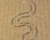 "30"" Sterling Silver Oxidized Long Box Cable Chain"
