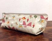 Slim pencil case or brush holder - linen The Humpty Dumpty