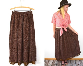 20 DOLLAR SUPER SALE! High Waisted Maxi Skirt - Leopard Print Skirt - High Waisted Skirt