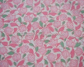 Bubblegum Pink Floral  - Vintage Fabric 35 inches wide 30s 40s New Old Stock Quilting Antique