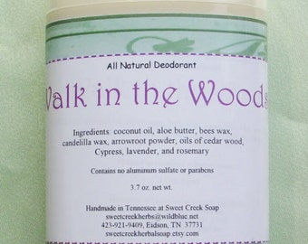 Natural Deodorant, Walk in the Woods, 2.5 oz.