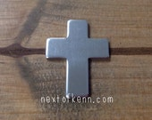 3 PACK - 1 inch 14g Pewter Cross Stamping Blank 3 pack