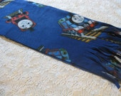 500+ Scarf Print Selection! Last One! Only at SylMarCreations! Thomas the Train in Royal Blue  - Winter Fleece Scarf