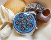 The Mirror and the Tin Collection Starfish Dreams Mint Tin Kaleidoscope Millefiori in Polymer Clay