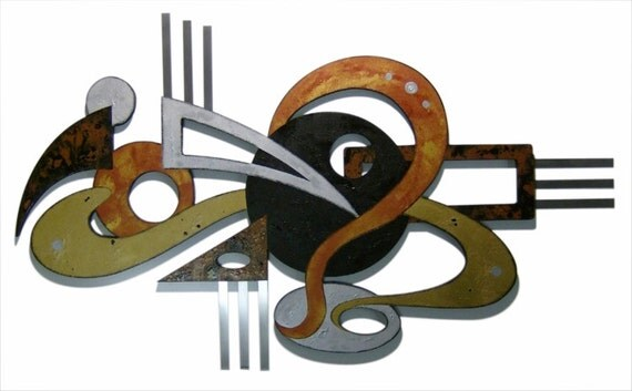 Unique Contemporary MODERN, Funky ABSTRACT wall SCULPTURE by Diva Art69 Studios