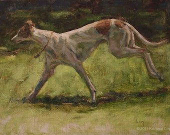 Greyhound Original Painting by Kathleen Coy