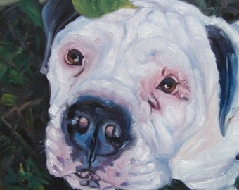 """Nature Lover, custom Pet Portrait Oil Painting by puci, 8x8"""""""