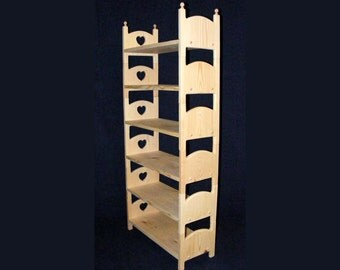Stackable Sextuple American Girl doll bunk bed with Heart cut outs for 18 inch dolls