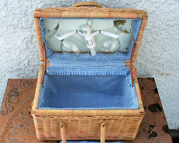 Woven Basket With Hinged Lid : Reserved woven wicker basket with hinged lid and by mysticlily