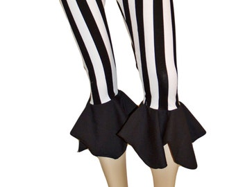 Black & White stripped Capri Pants Yoga