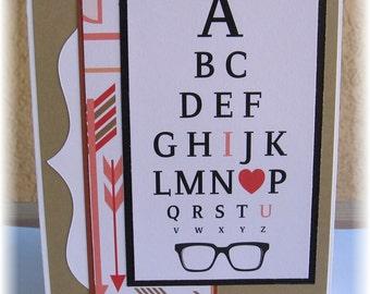 Eye Chart I Love U card