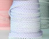 Bias Tape - Lilac Polka Dot Double Fold