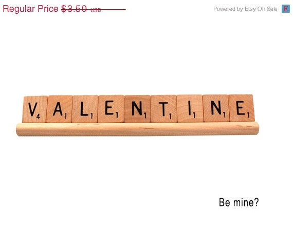 SALE Scrabble Valentine - Be Mine  Valentine Card