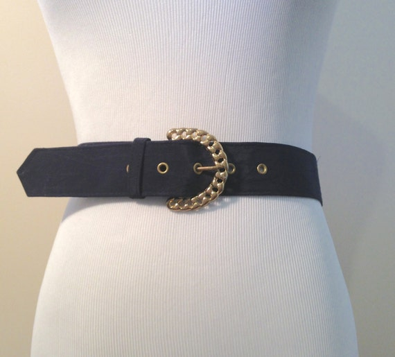 items similar to 1960 s navy blue wide waist belt with