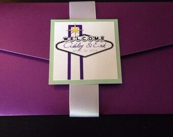 Boarding Pass Wedding Invitation DEPOSIT: Las Vegas Design