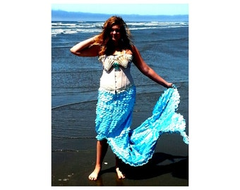 Mermaid Costume with Corset and Sea Shell Bra