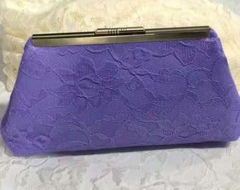 Vintage Lace Clutch in Lilac