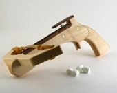 Wooden Mini-Marshmallow Launching Crossbow Pistol
